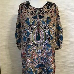 WHISPERS Velvet Tunic Dress
